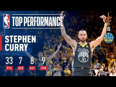 Stephen Curry Records Finals RECORD 9 made 3pt FG in Game 2 | 2018 NBA Finals