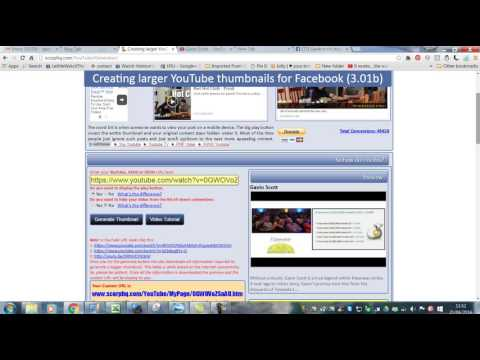 how to make your you tube video bigger on facebook