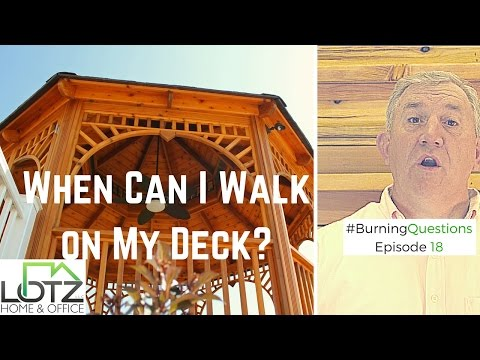 When Can I Walk On My Newly Stained Deck | Naperville Deck Stainers