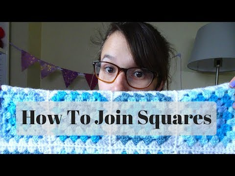 How To Join Crochet Granny Squares - continuous join and PLT join as you go