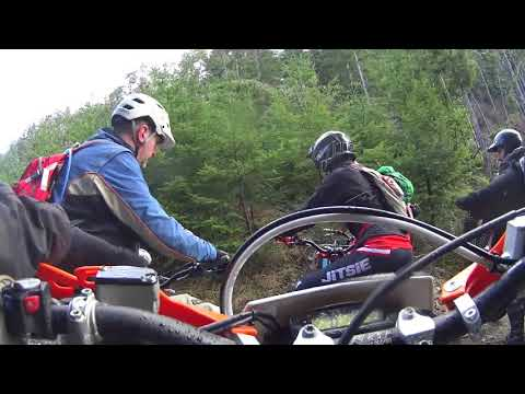 Onboard with Graham, Dirty Sanchez trail on KTM Freeride feb 2018