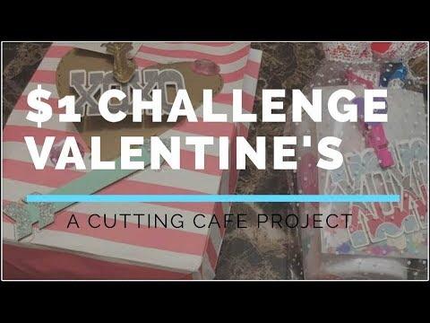 $1 CHALLENGE | VALENTINE GIFT SETS | COME CRAFT W/ME | TCC