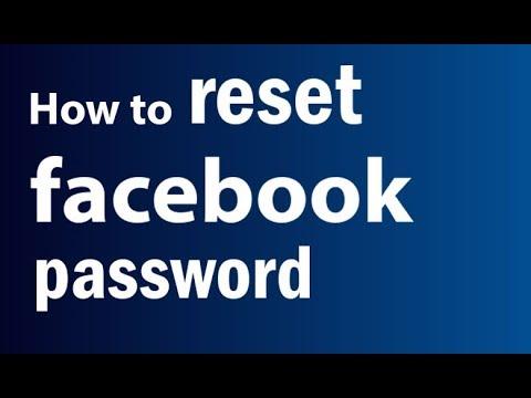 How To Reset Facebook Password   Forgot Facebook Password