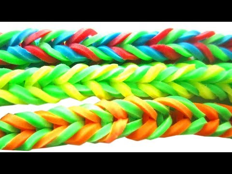 How to make a rubber-band bracelet with a clothe pin