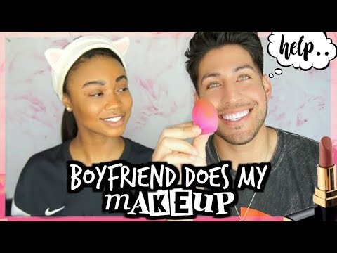 BOYFRIEND DOES MY MAKEUP