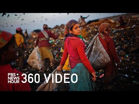 watch 360 video: Take a stroll through 'Trash Mountain'