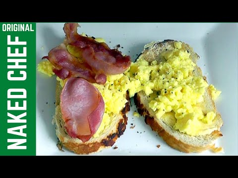 Microwave Breakfast Scrambled Eggs & Bacon - How to Cook recipe