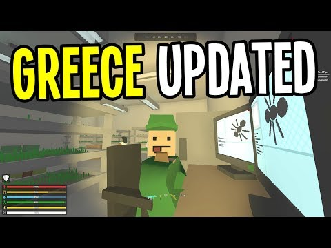 Unturned - GREECE MAP UPDATED! NEW QUESTS! - Greece Map Modded Survival - Ep. 22