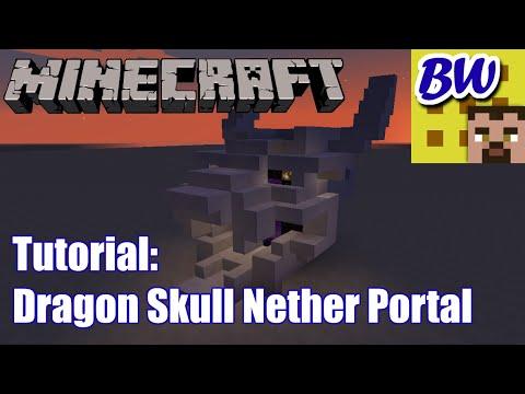 Minecraft Tutorial: Dragon Skull Nether Portal