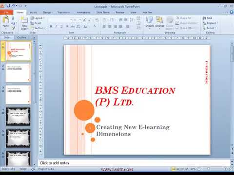Save Slides in PDF Format  Power Point  Video Tutorials in Hindi  - WWW.LSOIT.COM