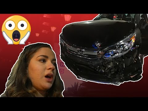 WE GOT INTO A HUGE CAR CRASH!!! (My car is wrecked)