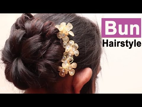 Easy Bun Hairstyle ★ Updo Hairstyle ★ Easy hairstyles for long hair ★ New hairstyle for girls
