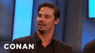 Jay Ryan's Dad Prepared Him For A Life In Horror - CONAN on TBS