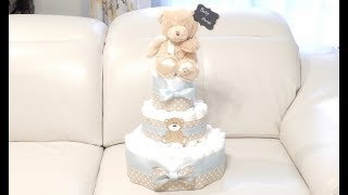 Download Teddy Bear Diaper Cake - How to Make That Video