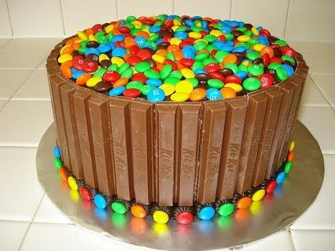 Kit Kat & M&M Cake - HOW TO VIDEO