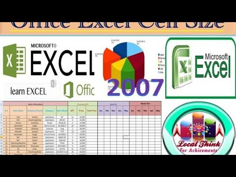 MS Office Excel 2007 Cell Sizing, Change Row Height & Column Width In Excel,