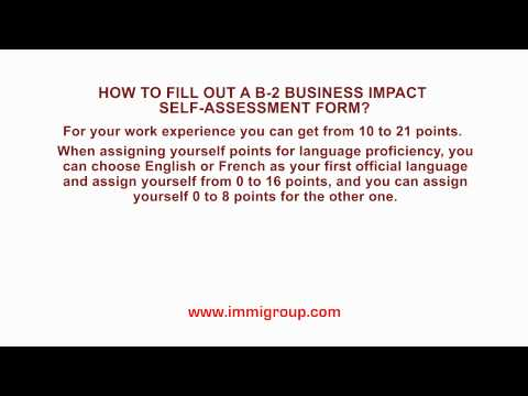 How to fill out a B-2 Business Impact Self-Assessment Form?