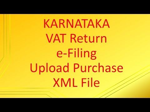 Karnataka VAT Return efiling | Upload Purchase XML File to vat.kar.nic.in