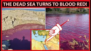 Dead Sea turns blood red before holy day of Yom Kippur (Day of Atonement)