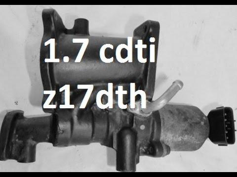 How to remove/clean EGR 1.7 cdti 2004-2009 z17dth z17dtl Astra Meriva Corsa p2279 p0400 p0409
