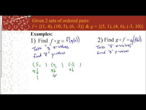 Lesson 7.1 - Compostition of Functions (Sets of Ordered Pairs)