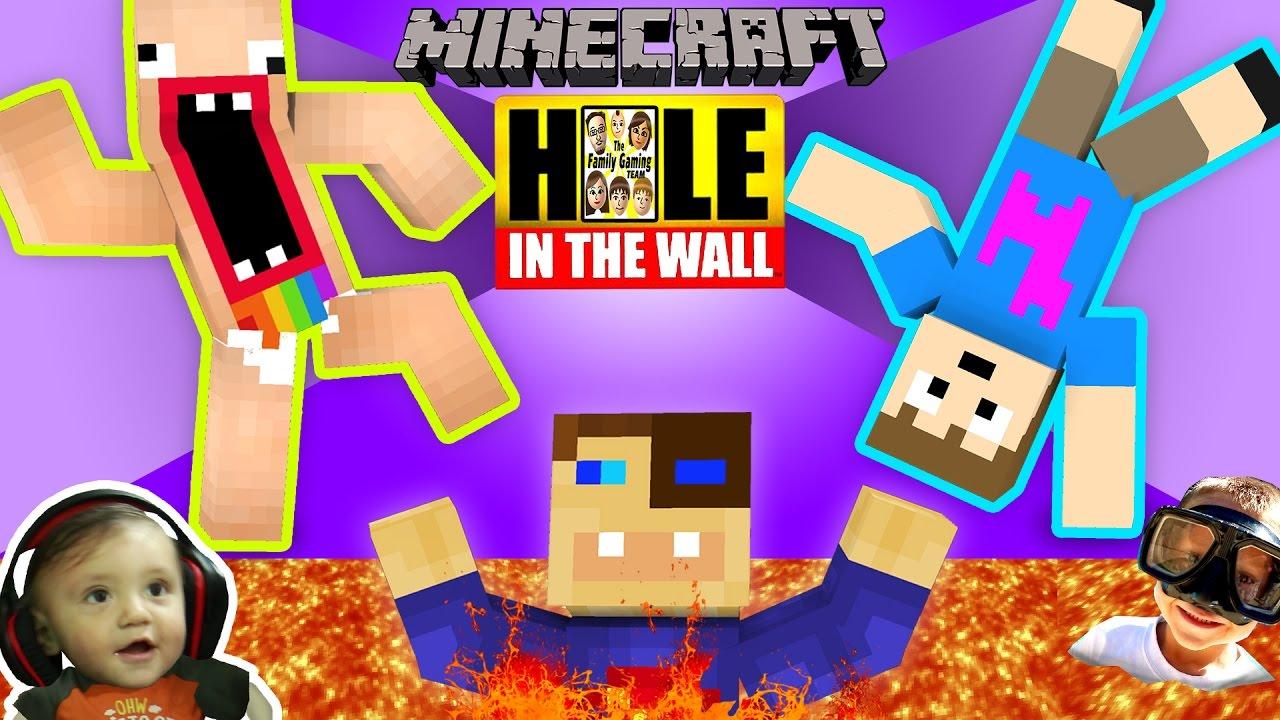MINECRAFT Hole in the Wall MINI-GAME! w/ FGTEEV Shawn, Duddy & Chase (SUPER CHALLENGE)