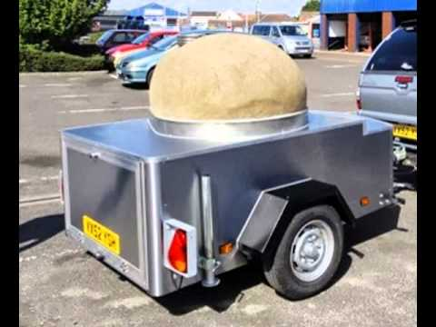 Wood Fire Pizza oven trailer