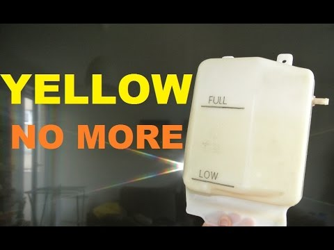 How to clean, restore, whiten your coolant overflow tank
