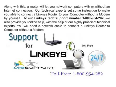 How to Connect a Linksys Router to My Computer without a Modem
