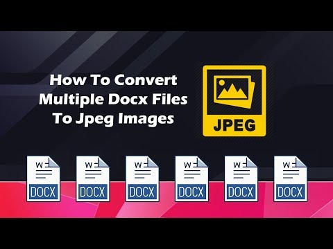 How to convert multiple docx files to jpg images?