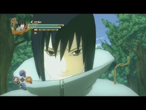 NARUTO SHIPPUDEN: Ultimate Ninja STORM 3 Full Burst PC - EMS Sasuke VS White Zetsu Mob Battle