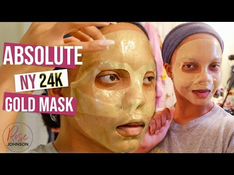 ABSOLUTE NEW YORK 24K GOLD MASK REVIEW   First Impressions