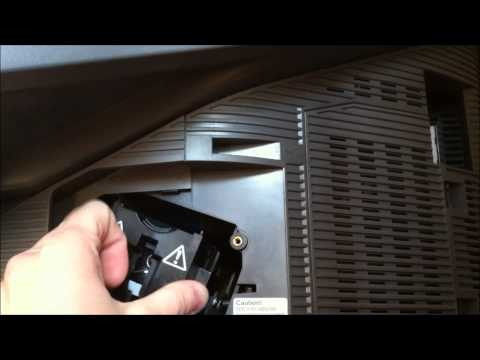 How to change or replace a bulb in Sony sxrd kds-r60xbra