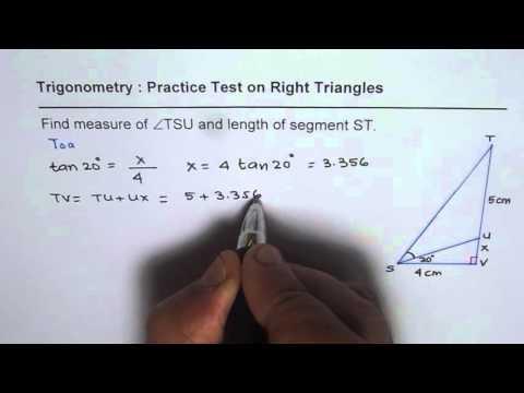 Solve Right Triangles  Trigonometry