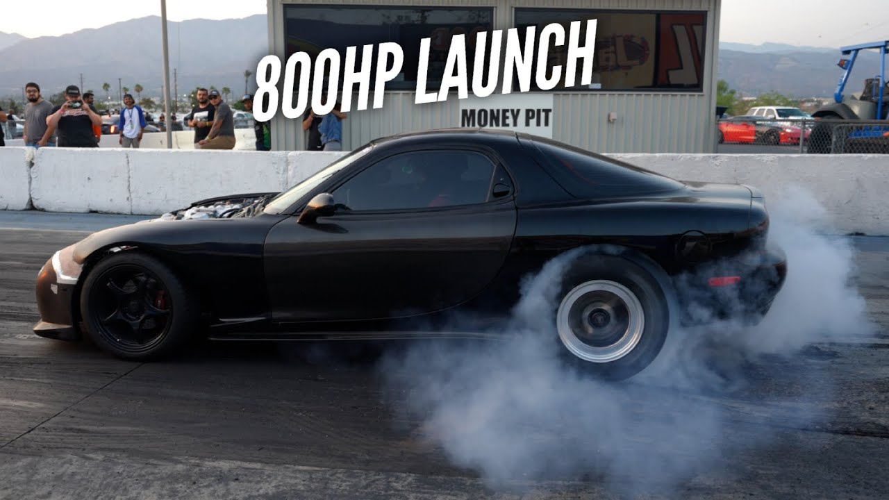 I almost pull a WHEELIE in the 3 Rotor RX-7. Its violent.