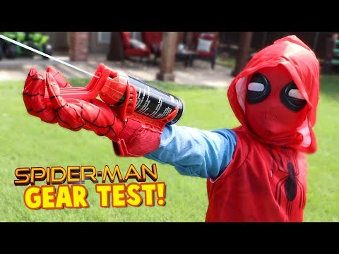 Spider-Man Homecoming Movie Gear Test! Real Web Shooters for Kids! Toys Review by KIDCITY