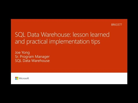 Azure SQL Data Warehouse lessons learned and practical implementation tips - BRK3377