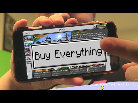 Buying EVERYTHING in Minecraft Pocket Edition Marketplace!!!