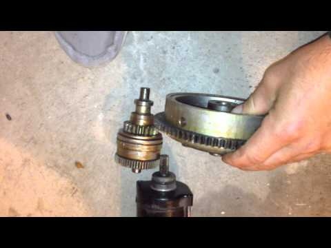 Yamaha ls2000 Flywheel, Starter Bendix, Starter, Flywheel cover how to.