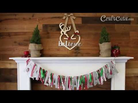 Buck and Doe Heart Christmas Wreath DIY