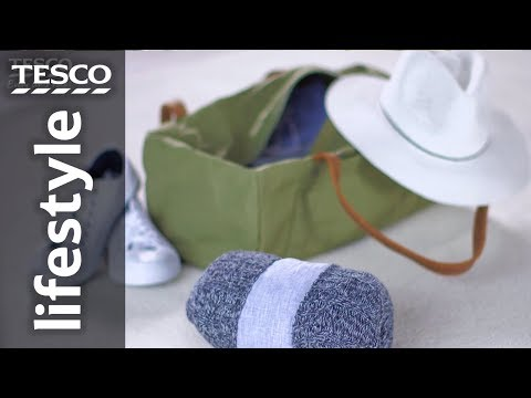 How to fold clothes into a bundle pack | Tesco