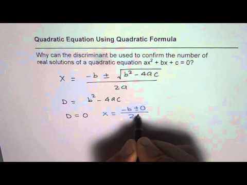 Why Discriminant Can be Used to Find Number of Real Solutions of Quadratic Function