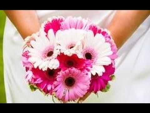 Gerbera Hand Tied Wedding Bouquet