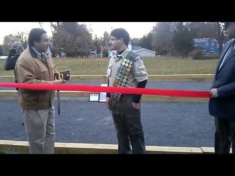 Bocce Courts donated to Bridgewater by Eagle Scout Frank DiMatteo