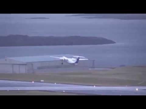 Reykjavik, Iceland - Plane takes off from Reykjavik Airport (Reykjavíkurflugvöllur) HD (2014)