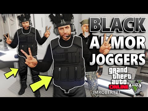GTA 5 BLACK CEO Body Armor BLACK Joggers Glitch! GTA Online Modded Clothing (GTA 5 Glitches)