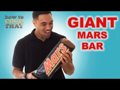 GIANT MARS BAR / MILKY WAY RECIPE How To Cook That Ann Reardon