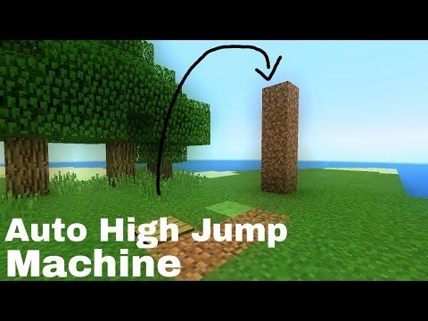 Minecraft PE [0.15.9] Indonesia Cara Membuat Mesin Pelompat/How to make Auto High Jump