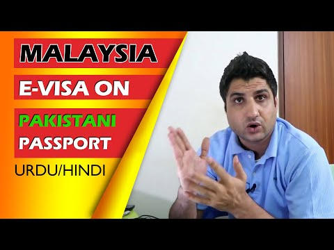 How to Obtain Malaysia evisa on Pakistani passport (Urdu)