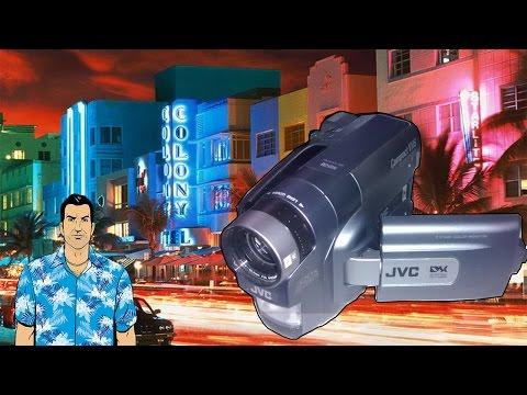 JVC GR-AXM710 e Gravação Antiga de Miami, a terra do GTA Vice City!